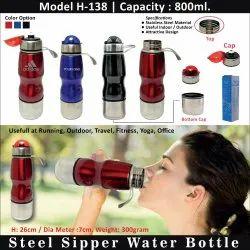 Matt Custmised Steel Water Bottle, 1 L