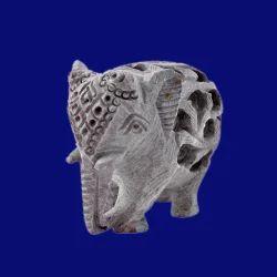 Soapstone Undercut Elephant Statue
