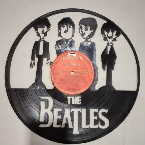 Acrylic Record Beatles Wall Art