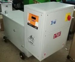 Three Phase Oil Cooled 45 KVA Servo Stabilizer, 300 V To 470 V, Output Voltage: 400 V