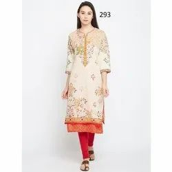 Stylish Digital Print Casual Crepe Kurti