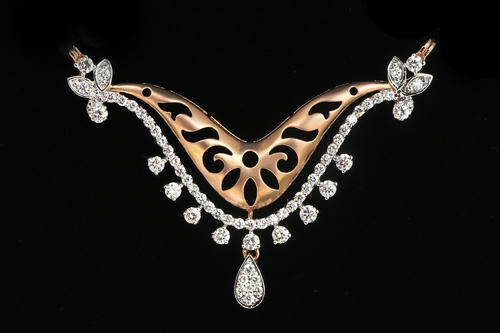 Diamond mangalsutra pendant at rs 75000 piece heere ka diamond mangalsutra pendant aloadofball Images