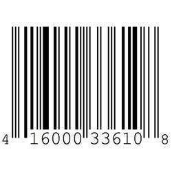White Barcode Label
