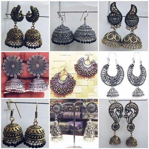 ec5f3379d Oxidised Earrings at Rs 45 /pair | Rui Mandi, Sadar Bazar | New ...