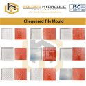 Chequered Tile Silicon Moulds, For Making Tiles