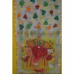 Hand Painted Kerala Cotton Saree