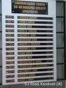 Acrylic,ACP Rectangular Society Name board, For Society Members Nameplate