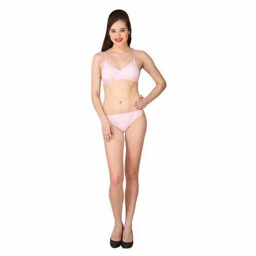 e0b0a97b221ce Hosiery Cotton White Ladies Fancy Bra Panty Set
