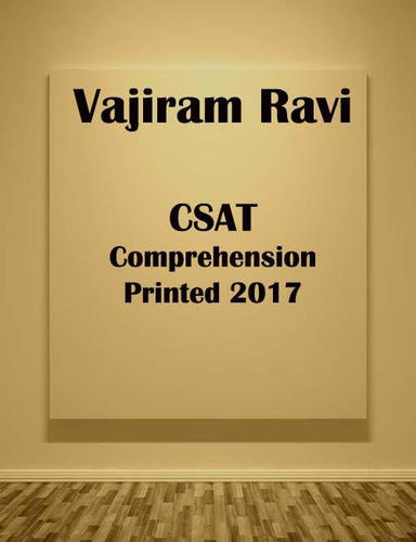 Vajiram Ravi Csat Comprehension Printed 2017