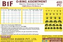 O Rings Box 400 Pcs (Kit) - Viton (FKM) Rubber Metric Standard Series