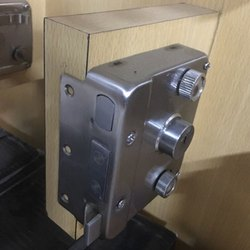 Polished Rim Door Lock, Stainless Steel