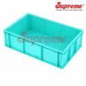Green Rectangular Supreme Scl 503215 Material Handling Crates, Capacity: 19 Ltr