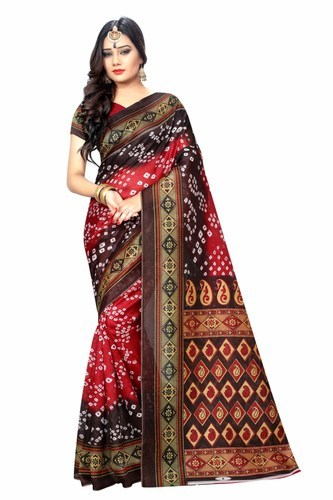 84acdde18d Happy Deal Multi Coloured Bandhani Designe Bhagalpuri Multi Coloured Sarees