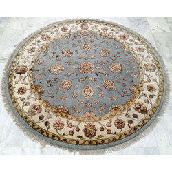 Hand Knotted Round Carpet