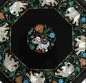 Marble Table Top With Inlay Work
