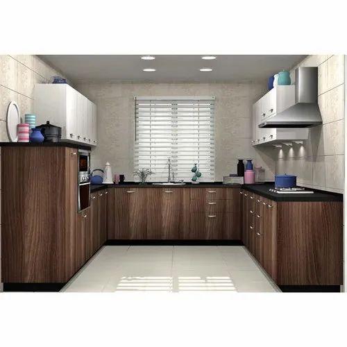 Sleek World Plywood Stylish U Shaped Modern Kitchen, Kitchen Cabinets