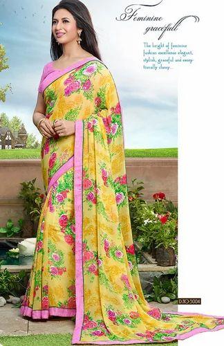 c1bd9c40ed Sanskar Ishita Printed Yellow Saree - Sanskar Tex Prints P Ltd ...