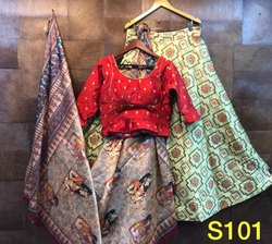 Designer Banarasi Jacquard Silk Lehenga