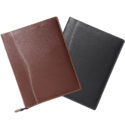 Black, Brown Zipper Leather Document File Folder, Packaging Size: 40 Pieces, For Home, Offices
