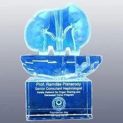 Clear 3d Crystal Kidney Model