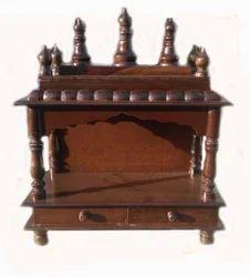 Wooden Polished Mandir