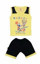 Kids Cartoon Printed Vest with Pant