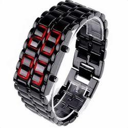 Digital Black Dial LED Unisex Watch