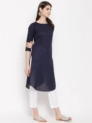 Women Yarn Dyed Khadi Cotton Kurti