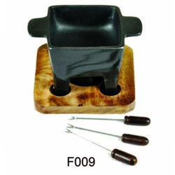 Black Aluminum Fondue, For Kitchen