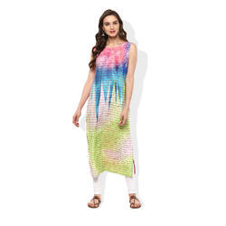 Sleeveless Printed Kurta