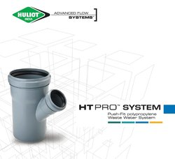 Ht Pro Plumbing Drainage System (Push-Fit Polypropylene Waste Water System)