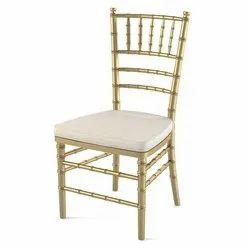 Golden Wedding Brass Chair