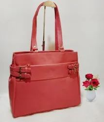 Ladies Synthetic Leather Handbag for Office and Everyday Use, Size: 11 inch 13 inch  4.5 inch