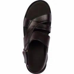 VONZO Men Black Fancy Slip On Sandal Chappal