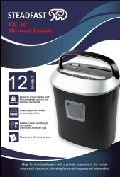 Automatic, Semi-Automatic Steadfast CC-10 Micro Cut Paper Shredder