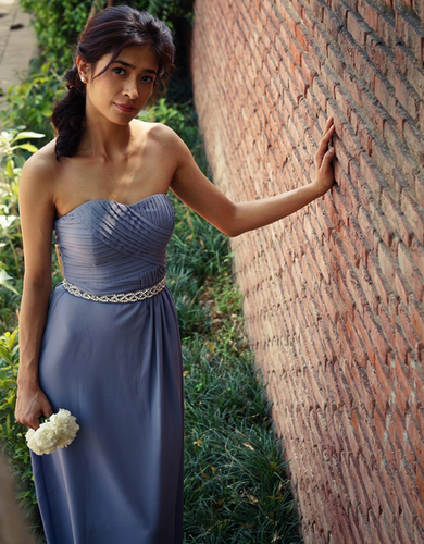 Column Bridesmaid Dress