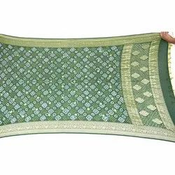 All Over Green Color Pure Banarasi Georgette Dupatta