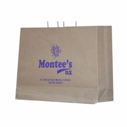 Kraft Paper Printed Paper Bag, Packaging Type: Packet, Capacity: 4-10 Kg