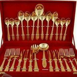 MKI 27 Pcs Brass Cutlery Set, for Home/Restaurant