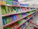 Mild Steel 5 Shelves Supermarket Toilet Cleaner Display Racks
