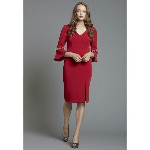 e5920da8272 Red Plain Cocktail Dress