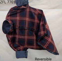 Checked Red, Blue Reversible Shirt