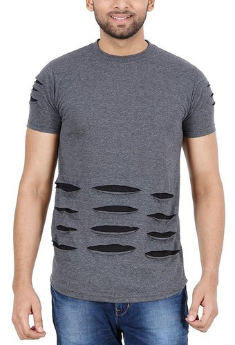 Voorkeur Large Ripped T Shirt Men's Ripped Half Sleeve, Rs 220 /piece | ID &GI85