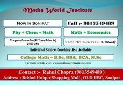 6-8 Pm English Coaching For Maths, Sonipat, 10Th Cbse