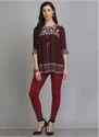 Maroon Knitted Churidar