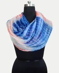 Tie Dye Pure Chiffon Scarf