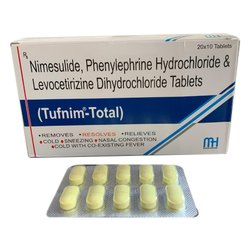 Nimesulide Phenylephrine Hydrochloride and Levocetirizine Dihydrochloride Tablets