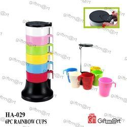Melamine+abs Rainbow Cups
