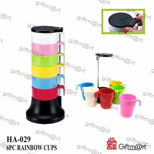 Drinking Mug Giftmart Rainbow Cup for Home
