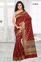 Silk Maroon South Indian Embroidered Sarees